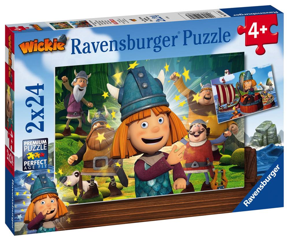 2 x 24 Teile Ravensburger Kinder Puzzle Wickie Unser kluges Köpfchen Wickie 05070