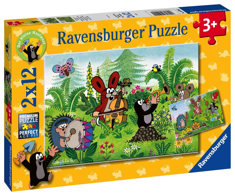 2 x 12 Teile Ravensburger Kinder Puzzle Gartenparty mit Freunden 05090