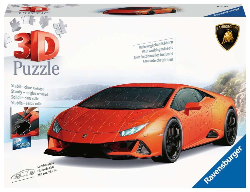108 Teile Ravensburger 3D Puzzle Auto Lamborghini Huracan Evo 11238