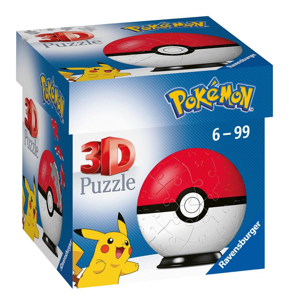54 Teile Ravensburger 3D Puzzle Ball Pokémon Pokéball Classic 11256