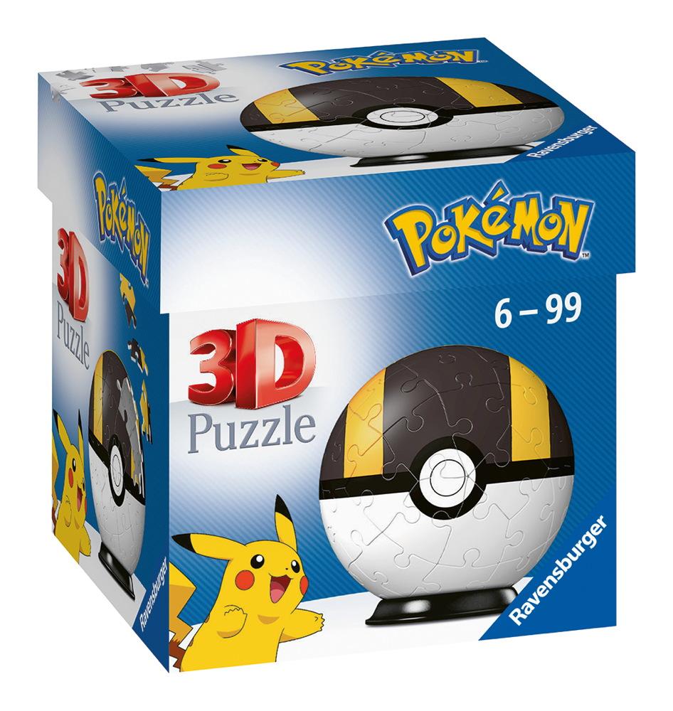 54 Teile Ravensburger 3D Puzzle Ball Pokémon Pokéball Hyperball 11266