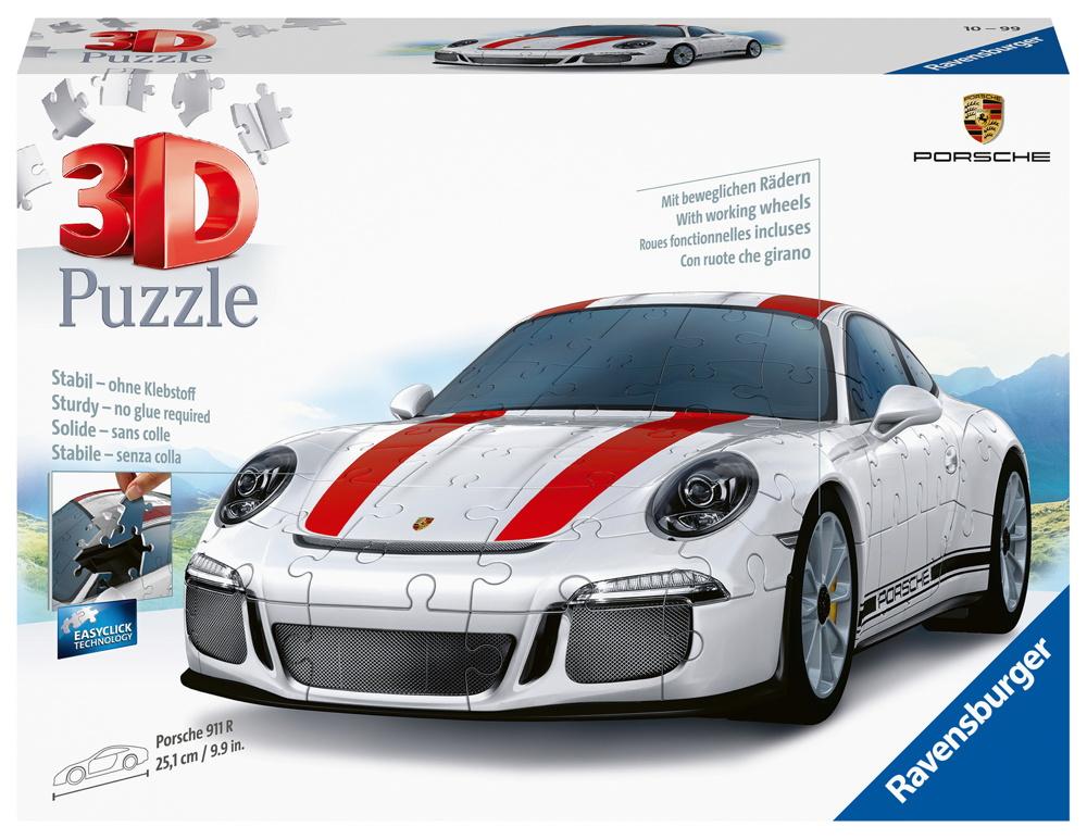 108 Teile Ravensburger 3D Puzzle Auto Porsche 911R 12528
