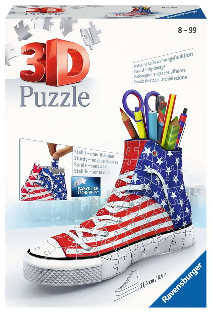 108 Teile Ravensburger 3D Puzzle Sneaker American Style 12549