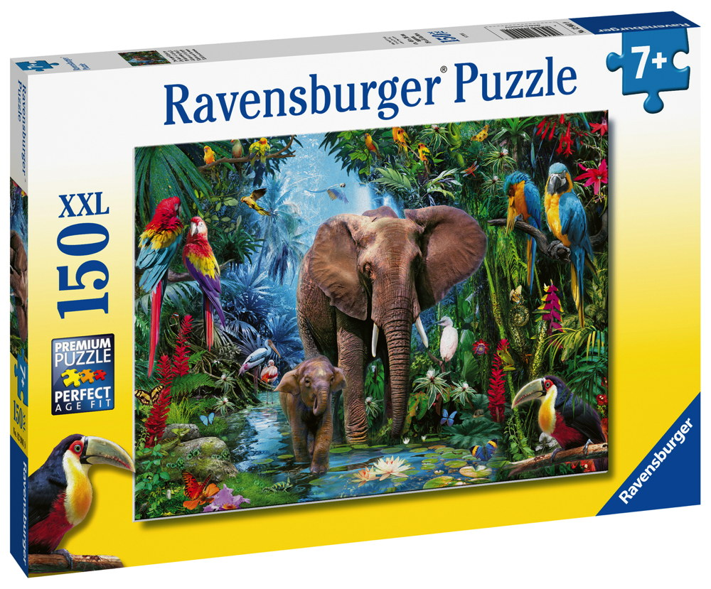 150 Teile Ravensburger Kinder Puzzle XXL Dschungelelefanten 12901
