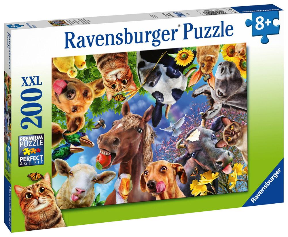 200 Teile Ravensburger Kinder Puzzle XXL Lustige Bauernhoftiere 12902