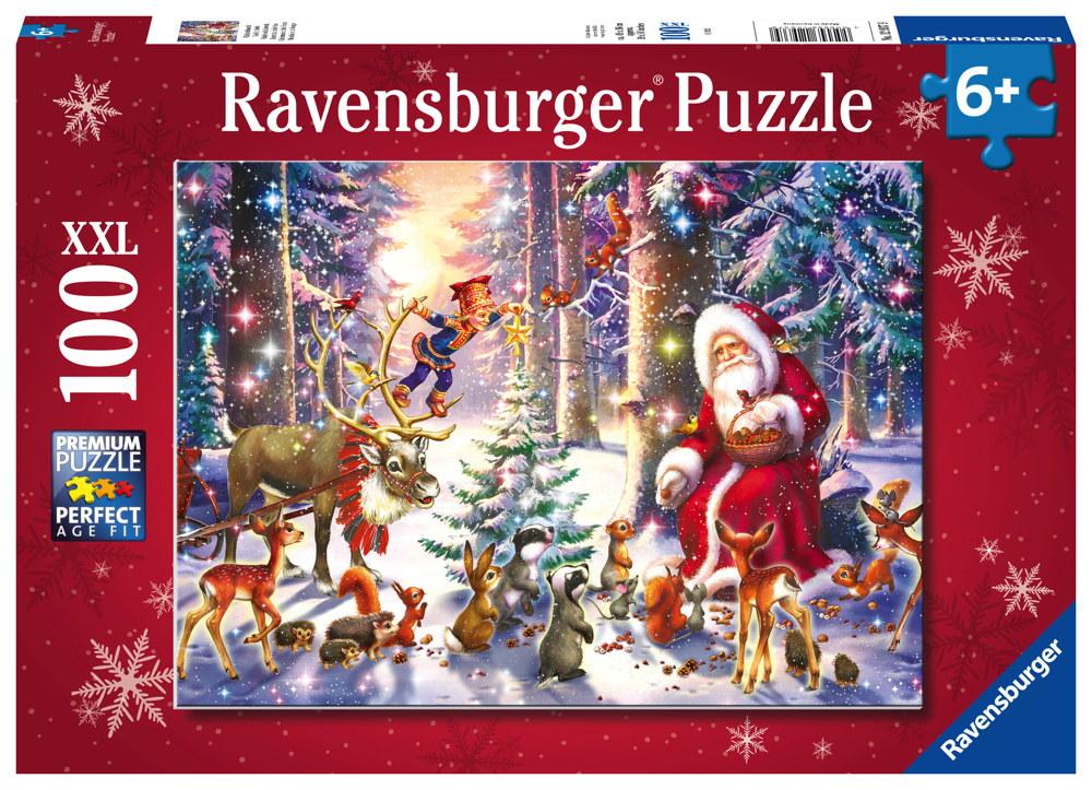 100 Teile Ravensburger Kinder Puzzle XXL Weihnachten Waldweihnacht 12937