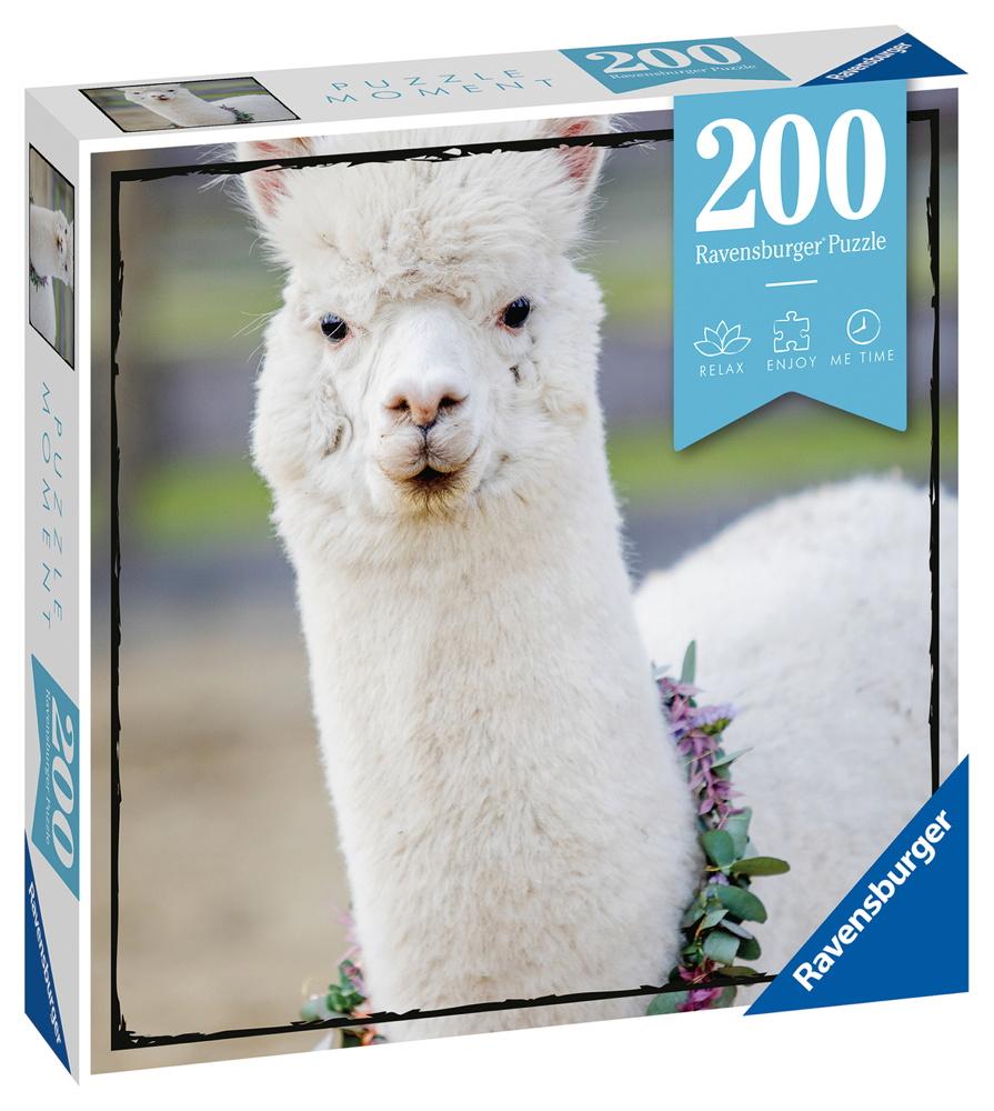 200 Teile Ravensburger Puzzle Moments Alpaka 13270