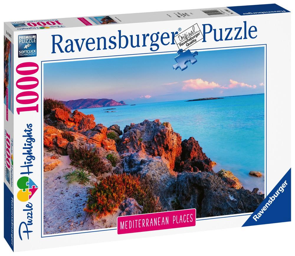 1000 Teile Ravensburger Puzzle Mediterranean France Frankreich 14980
