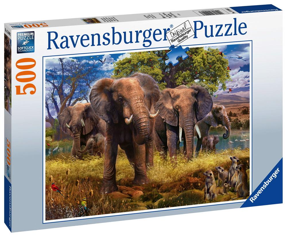 500 Teile Ravensburger Puzzle Elefantenfamilie 15040