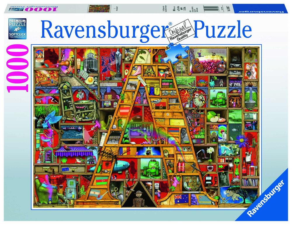 1000 Teile Ravensburger Puzzle Awesome Alphabet A 19891