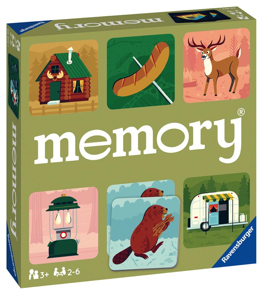 48 Karten Ravensburger Kinderspiel Legekartenspiel Camping Adventures memory 20613
