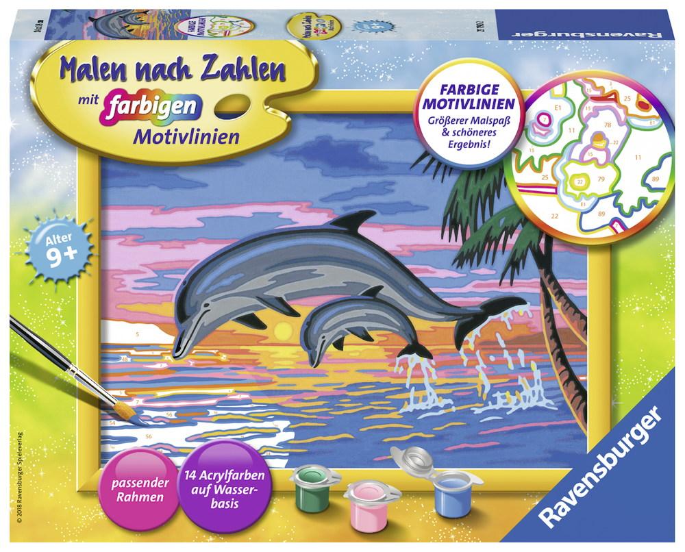 Ravensburger Malen nach Zahlen Classic Serie D Paradies der Delfine ...