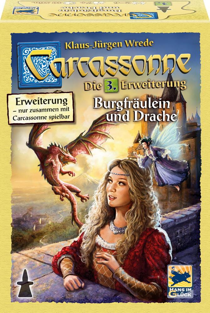 Hans im Glück Carcassonne 3. Erweiterung Burgfräulein und Drache HIGD0103