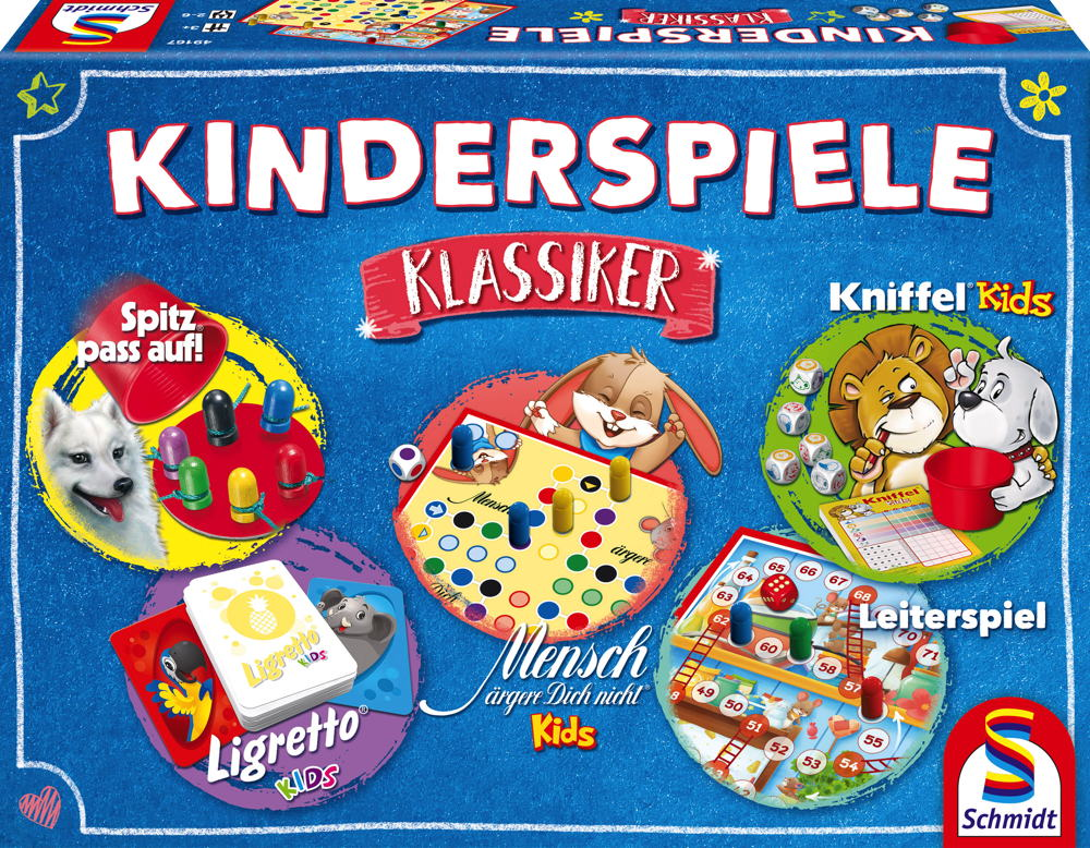 Schmidt Spiele Kinderspiel Spielesammlung Kinderspiele Klassiker 49189