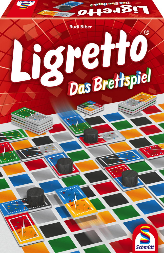 Schmidt Spiele Familienspiel Zuordnungsspiel Ligretto - Das Brettspiel 49386