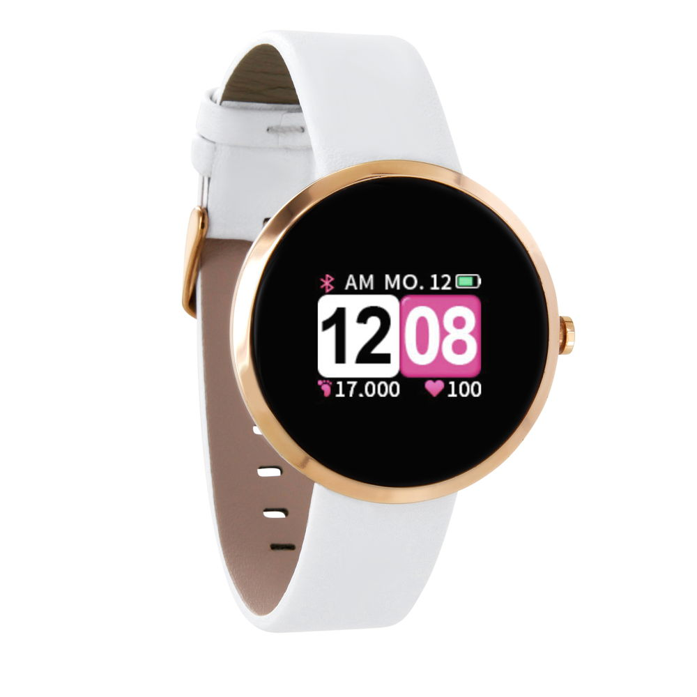 Xlyne Pro Smartwatch X-Watch Siona Color Fit polar white Android IOS weiß