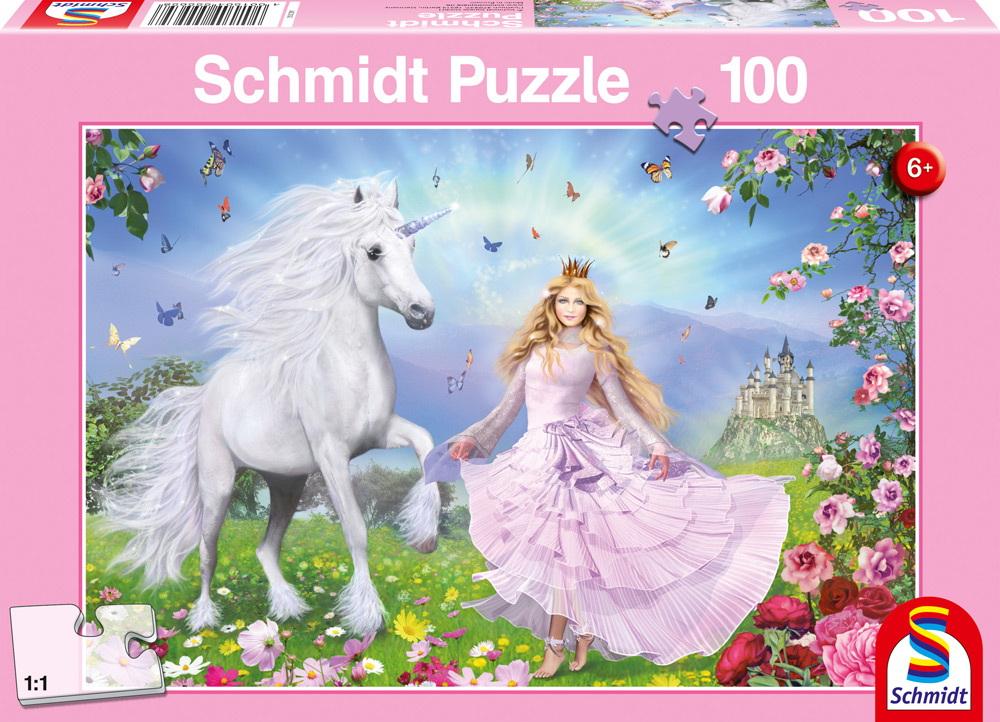 100 Teile Schmidt Spiele Kinder Puzzle Prinzessin der Einhörner 55565