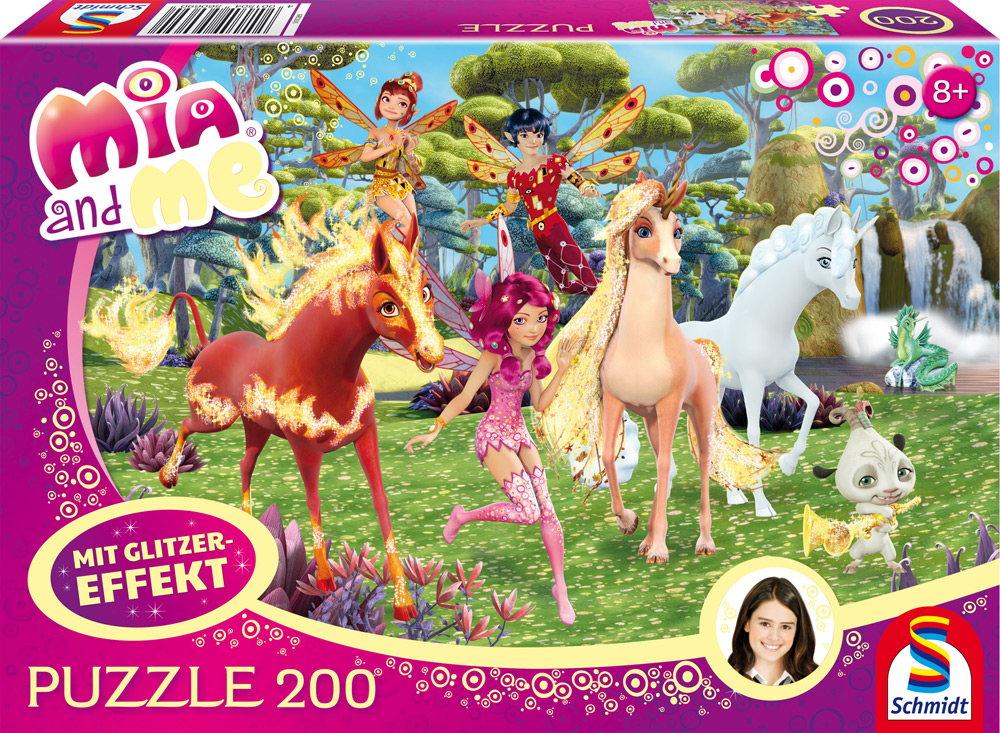 200 Teile Schmidt Spiele Kinder Puzzle Glitzer Mia and me In Centopia 56069