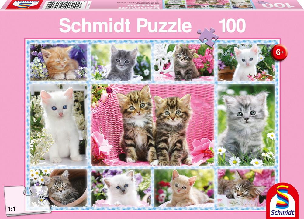 100 Teile Schmidt Spiele Kinder Puzzle Katzenbabys 56135