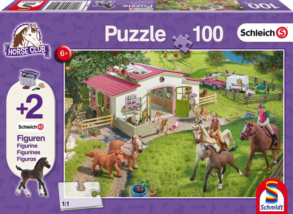 100 Teile Schmidt Spiele Kinder Puzzle Schleich Ausritt ins Grüne mit 2 Figuren 56190