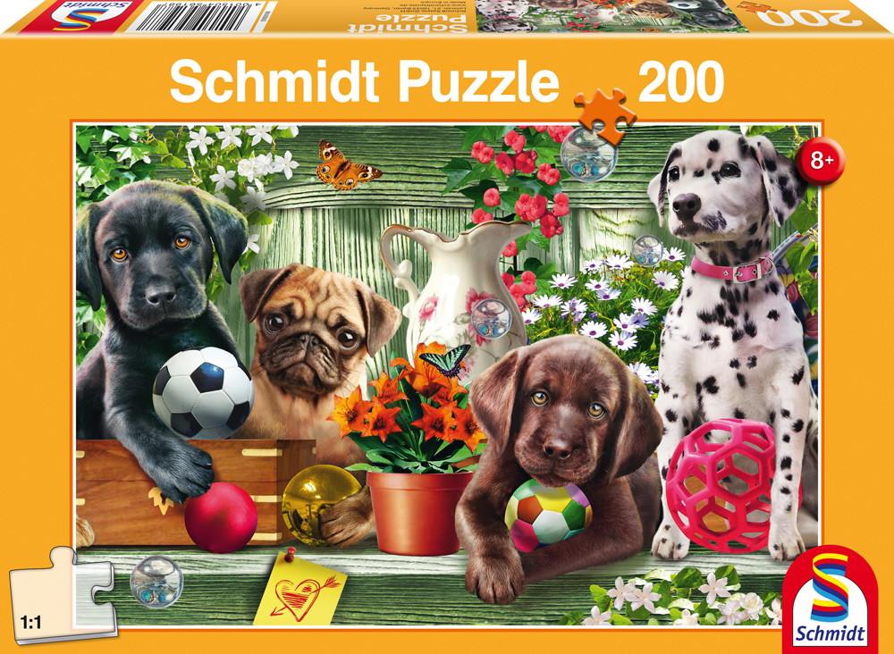 200 Teile Schmidt Spiele Kinder Puzzle Verspielte Hundekinder 56198