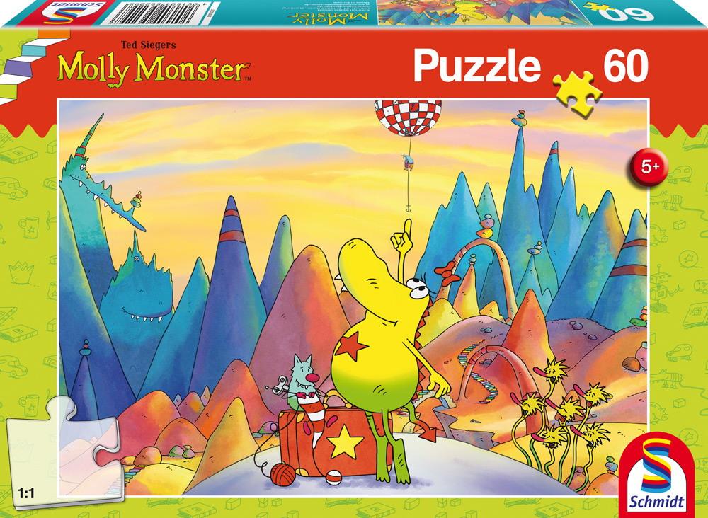 60 Teile Schmidt Spiele Kinder Puzzle Molly Monster auf Reisen 56229