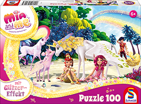 100 Teile Schmidt Spiele Kinder Puzzle Glitzer Mia and me Am Strand 56246