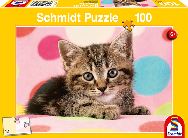 100 Teile Schmidt Spiele Kinder Puzzle Süßes Katzenkind 56249