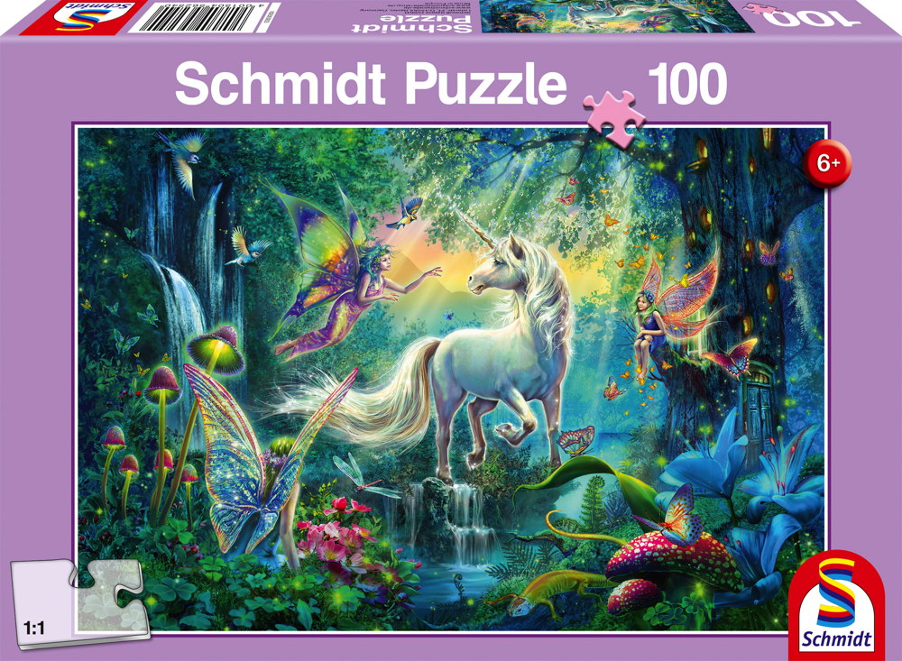 100 Teile Schmidt Spiele Kinder Puzzle Im Land der Fabelwesen 56254