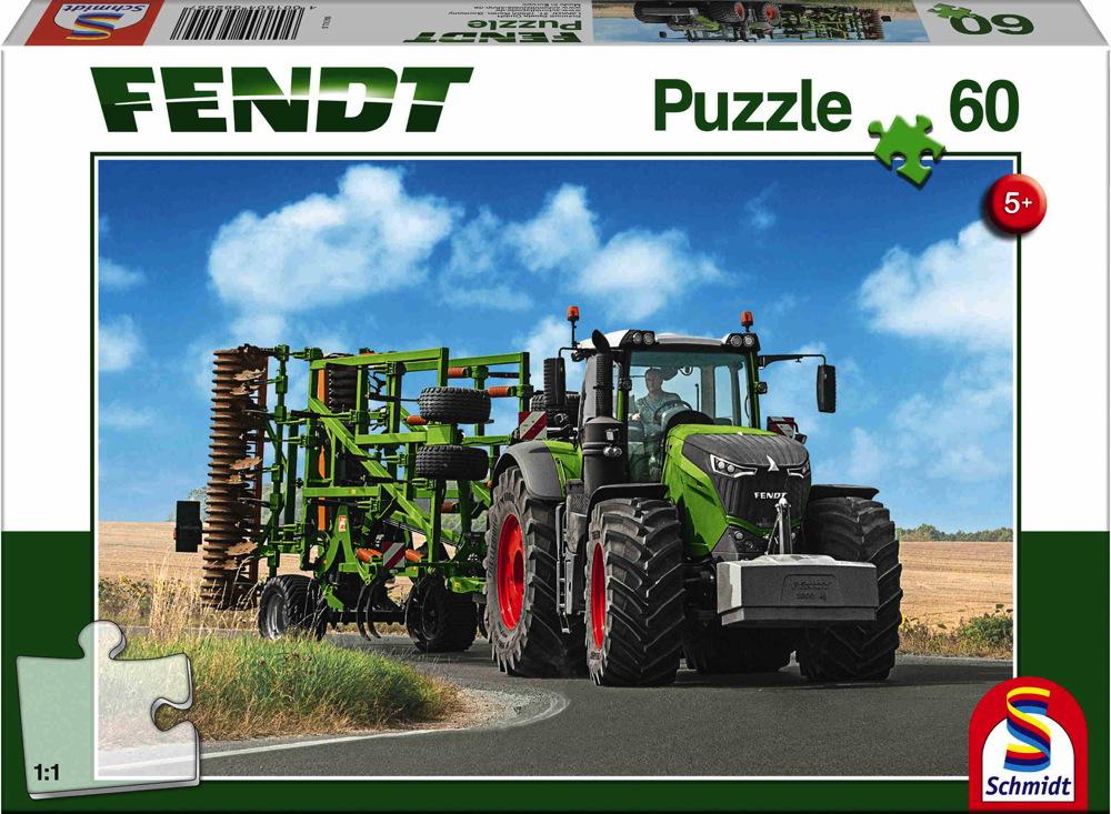 60 Teile Schmidt Spiele Kinder Puzzle Fendt 1050 Vario mit Amazone Grubber Cenius 56255