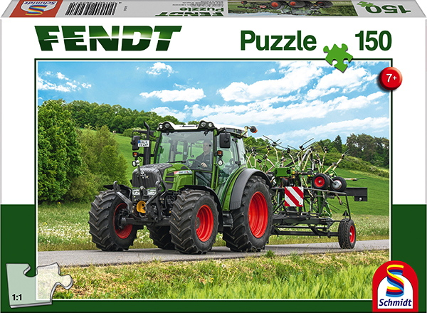 150 Teile Schmidt Spiele Kinder Puzzle Fendt 211 Vario mit Fendt Wender Twister 56257