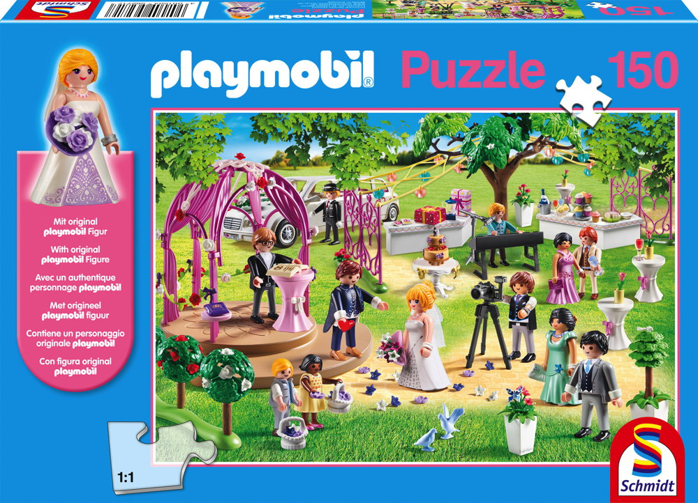 150 Teile Schmidt Spiele Kinder Puzzle Playmobil Hochzeit mit Figur 56271