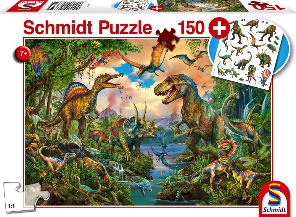 150 Teile Schmidt Spiele Kinder Puzzle Wilde Dinos mit Tattoos Dinosaurier 56332