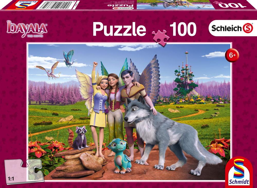 100 Teile Schmidt Spiele Kinder Puzzle Schleich Bayala Land der Elfen und Drachen 56335