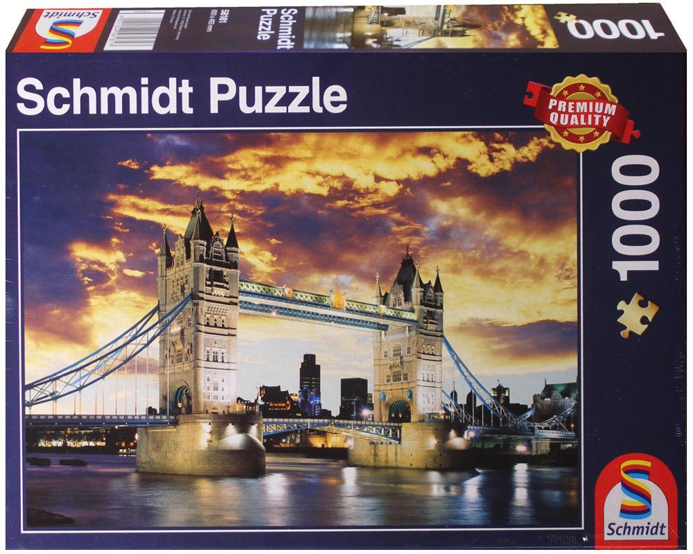 1000 Teile Schmidt Spiele Puzzle Tower Bridge, London 58181