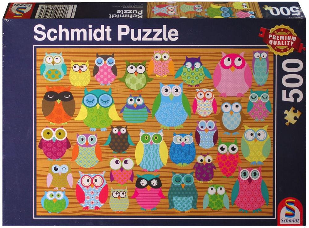 500 Teile Schmidt Spiele Puzzle Eulen-Collage 58196