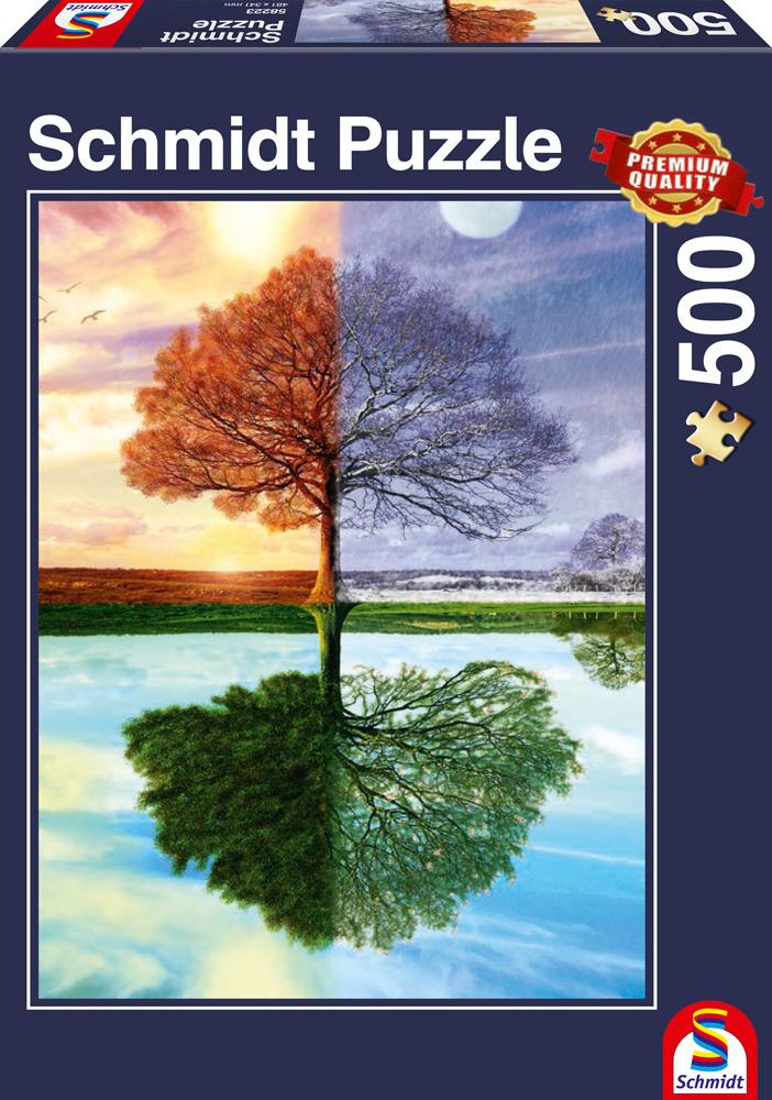 500 Teile Schmidt Spiele Puzzle Jahreszeiten-Baum 58223