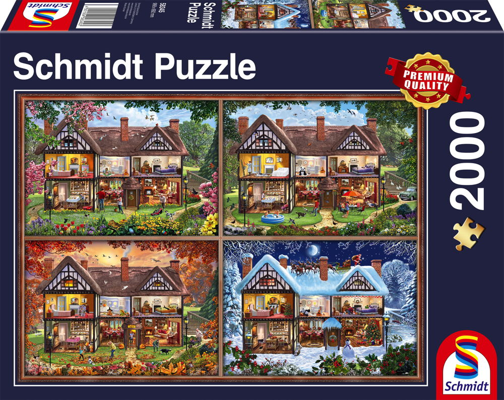 2000 Teile Schmidt Spiele Puzzle Jahreszeiten Haus 58345