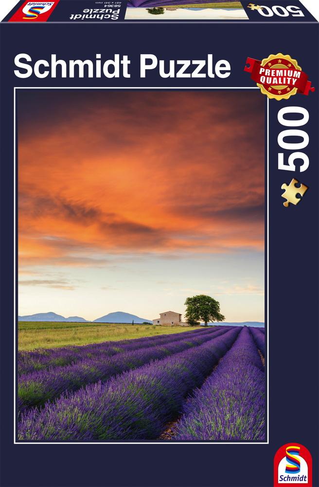 500 Teile Schmidt Spiele Puzzle Lavendelfeld, Provence 58364
