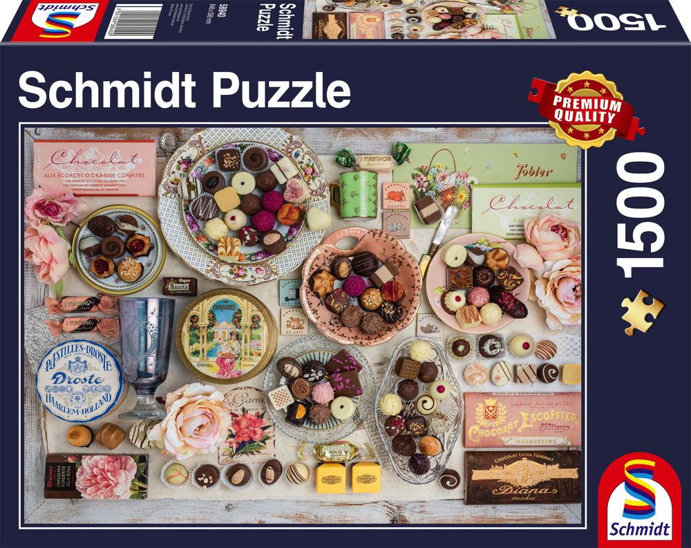 1500 Teile Schmidt Spiele Puzzle Nostalgie-Schokoladen 58940