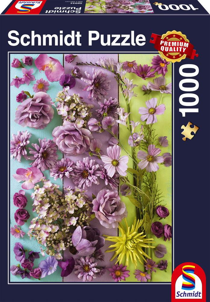 1000 Teile Schmidt Spiele Puzzle Violette Blüten 58944