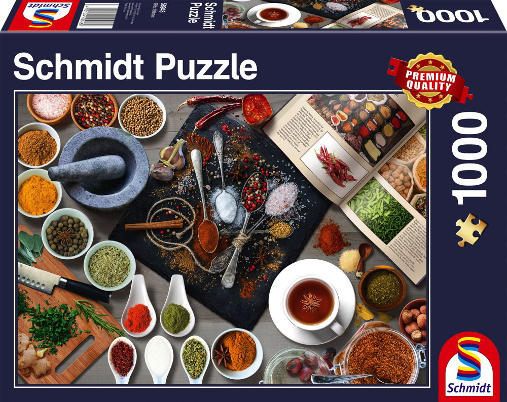 1000 Teile Schmidt Spiele Puzzle Gewürze 58948