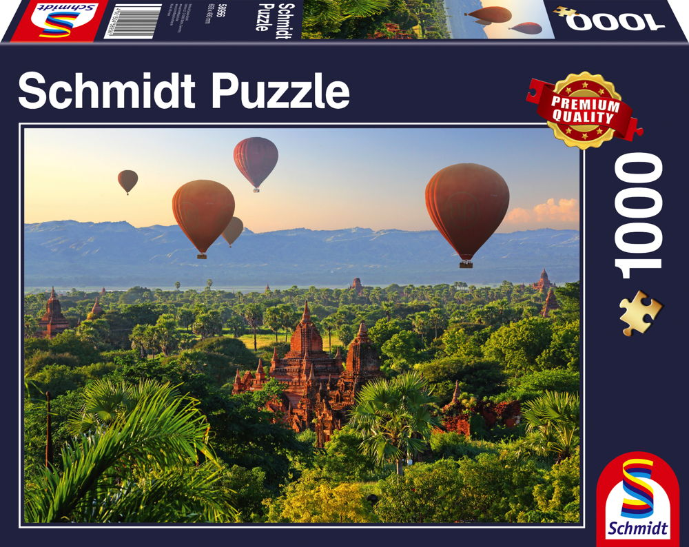 1000 Teile Schmidt Spiele Puzzle Heißluftballons, Mandalay, Myanmar 58956