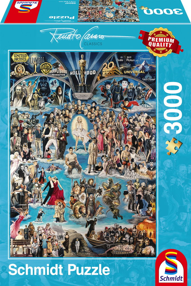 3000 Teile Schmidt Spiele Puzzle Renato Casaro Hollywood XXL 59347