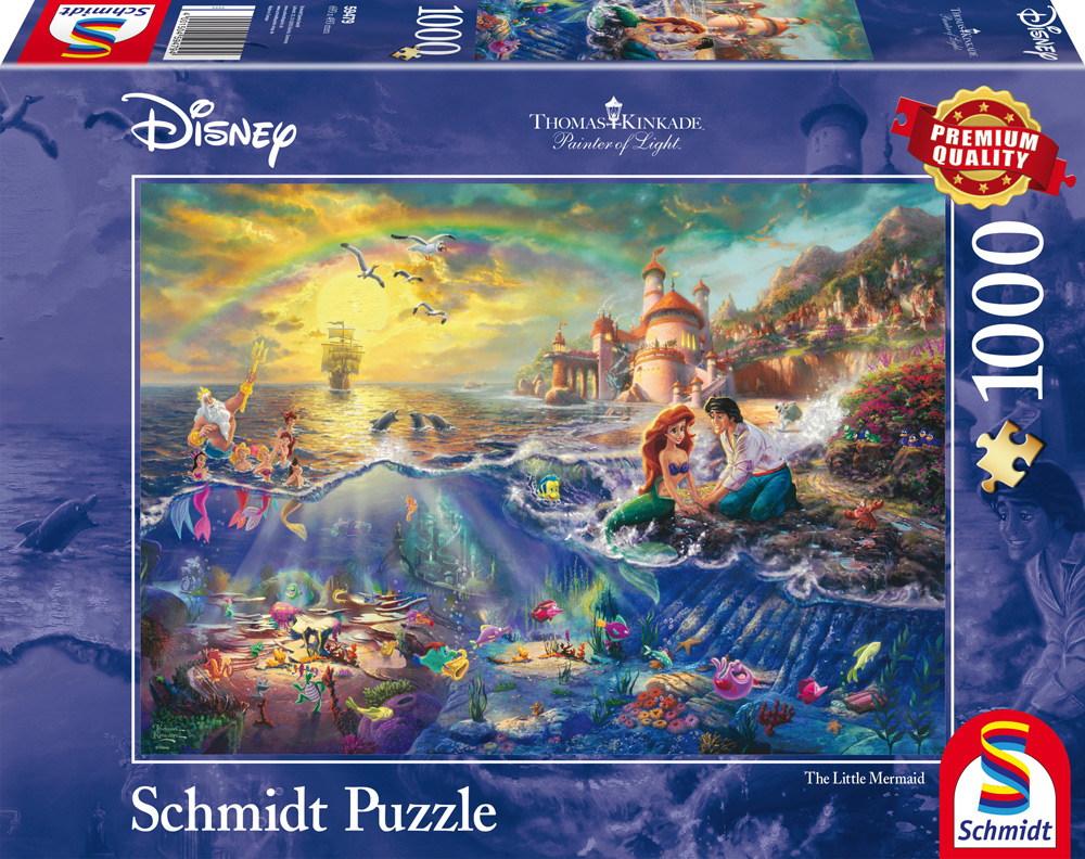 1000 Teile Schmidt Spiele Puzzle Thomas Kinkade Disney Kleine Meerjungfrau Arielle 59479