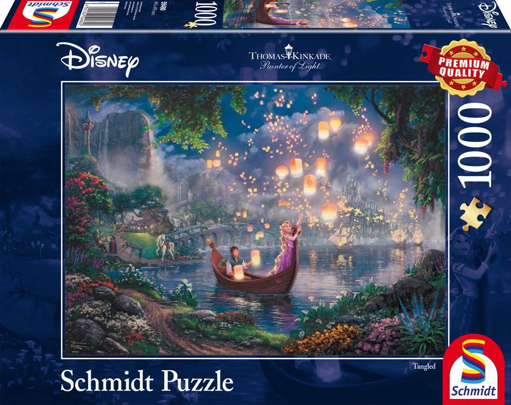 1000 Teile Schmidt Spiele Puzzle Thomas Kinkade Disney Rapunzel 59480