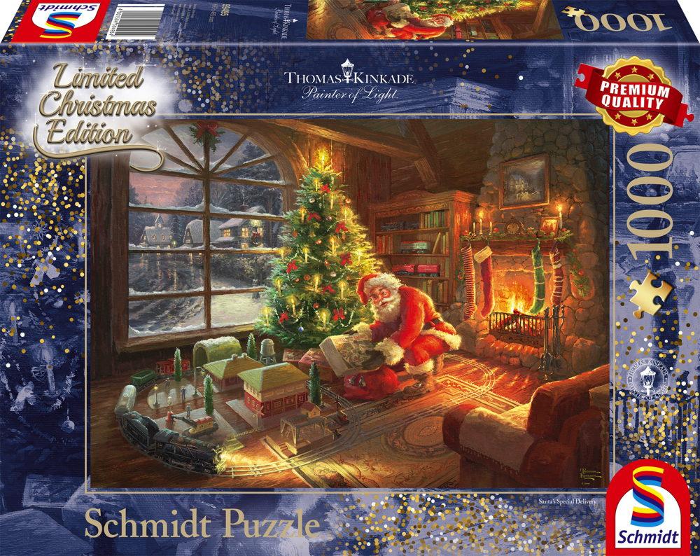 2000 Teile Thomas Kinkade Puzzle Weihnachtszeit