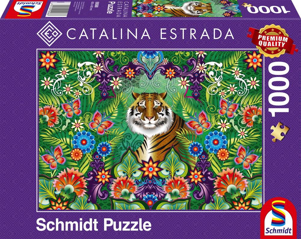 1000 Teile Schmidt Spiele Puzzle Catalina Estrada Bengalischer Tiger 59588