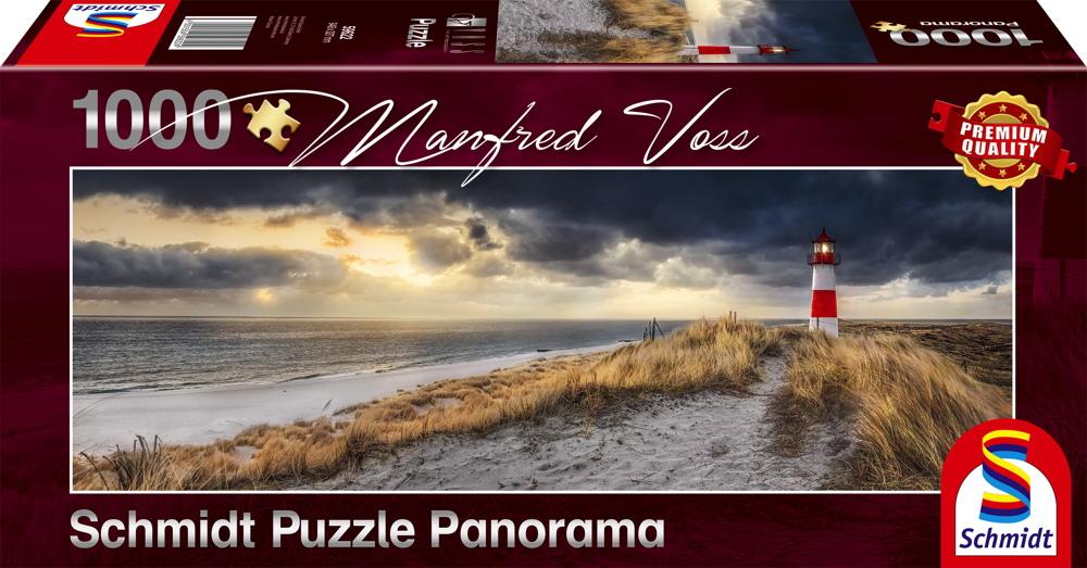 1000 Teile Schmidt Spiele Puzzle Panorama Manfred Voss Leuchtturm, Sylt 59622