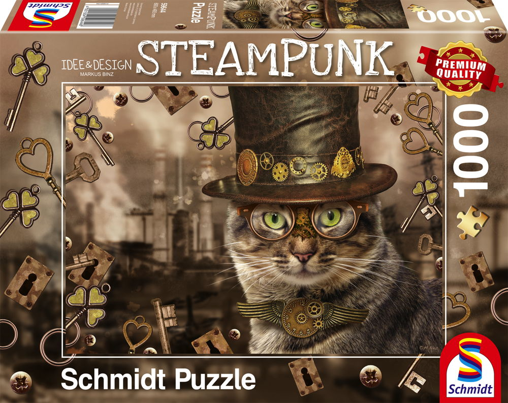 1000 Teile Schmidt Spiele Puzzle Markus Binz Steampunk Katze 59644